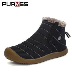 Botas de neve botas masculinas casal sapatos de inverno masculino botas de neve botas de chuva à prova dwaterproof água