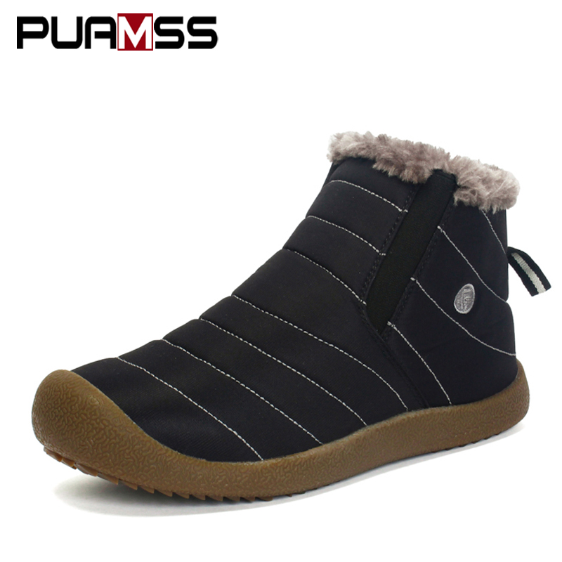 Winter Keep Warm Men Boots Waterproof Rain Ankle Boots Men Snow Boots Masculina Botas Couple Winter Shoes Men Sneakers