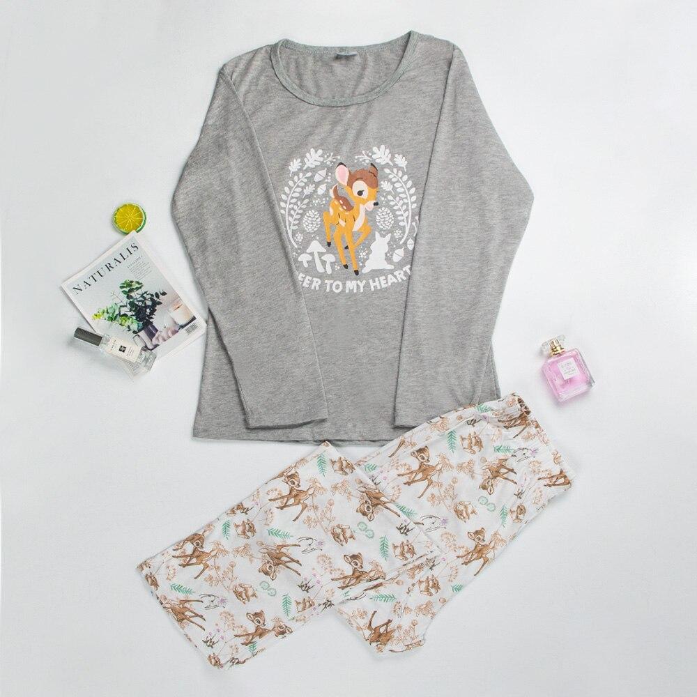Pajamas For Women Long Sleeve Pajama Set Women Cartoon Pajamas Women Printed Cotton Womens Pajamas Sleepwear