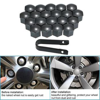 20 Pcs Car Wheel Screw Covers 19 mm Auto DustProof Tyre Nut Caps With Removal Tool Bolt Rims Special Socket Car Styling image