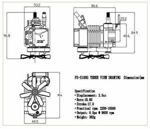 Image 5 - Toyan FS S100G moteur à essence à quatre temps, moteur RC, pour bateau, avion