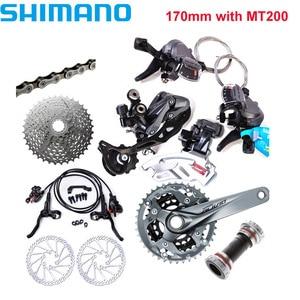 Image 4 - SHIMAN0 ALIVI0 M4000 / M4050 9 speed 27 speed dağ bisikleti bisiklet vites takımı eklendi BR M4050 + RT56 / MT200 + G3 marka yeni origi
