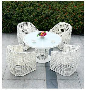 Leisure-Set Coffee-Table-Combination Rattan Sofa Outdoor Balcony