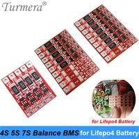 4S 12.8 v 5S 16 v 7 s 22.4v3.2v lifepo4 bms equilíbrio da bateria para 18650 32700 lítio ferro fosfato bateria de proteção de carregamento bms|Acessórios para baterias| |  -