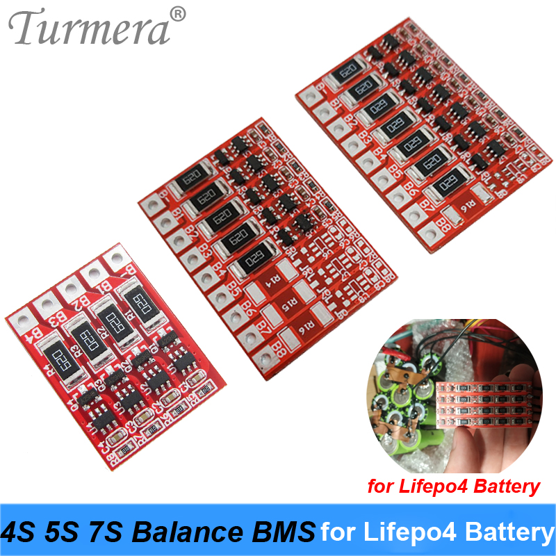 4S 12.8V 5S 16V 7S 22.4V3.2V LiFePo4 Battery Balance BMS For 18650 32700 Lithium Iron Phosphate Battery Charging Protection BMS