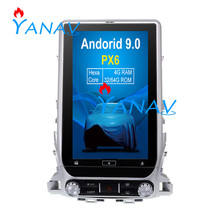 цена на 13.6 inch Android 9.0 WiFi GPS Navigation For-TOYOTA LAND CRUISER 2016-2019 Vertical Touch Screen Radio Dvd Player Car Stereo