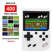 Tapdra branco handheld retro fc nes game console com 400 jogos 3