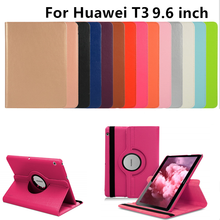 360° Case Compatible with Huawei MediaPad T3 10 9.6inch AGS-L09 Leather Tablet Cover with Stand AGS-W09/L09/L03 Honor Play Pad(China)