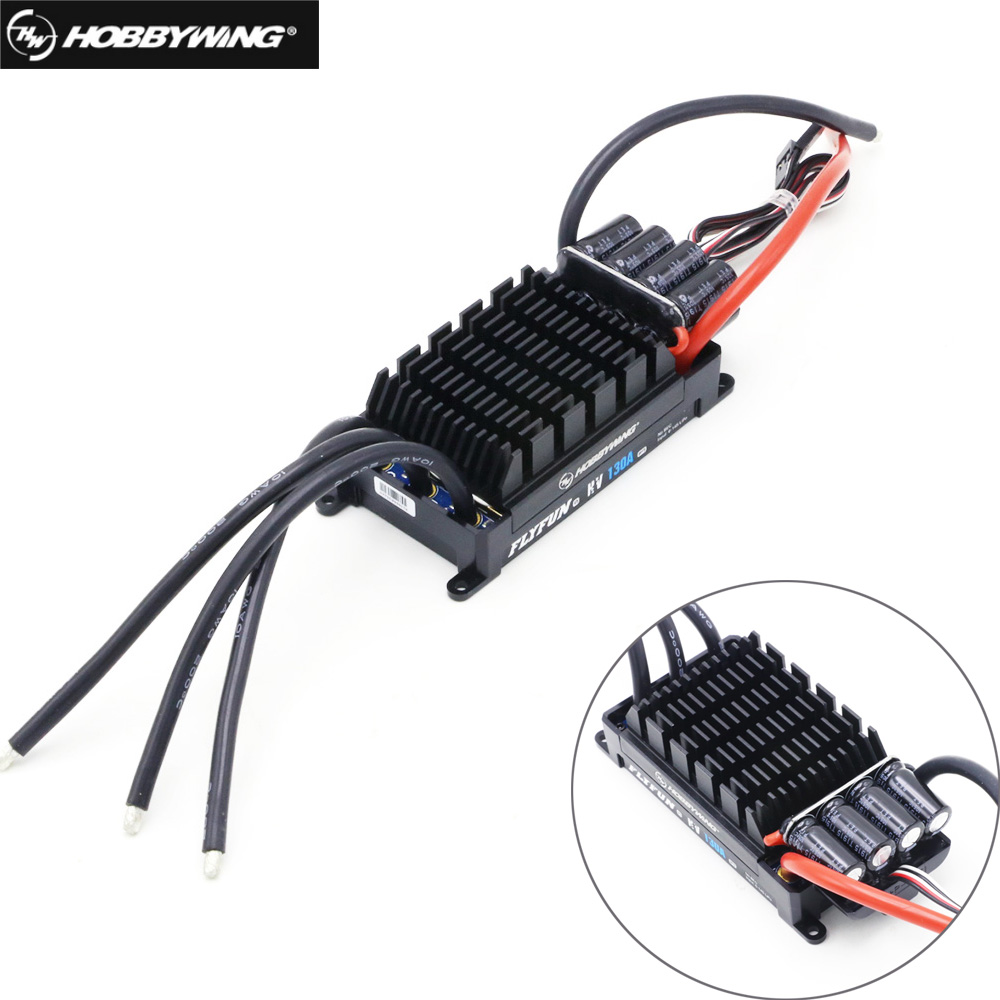 Hobbywing FlyFun V5 80A 60A 110A 120A 130A 160A Speed Controller Brushless ESC 3-6S Lipo With DEO Function For RC Quadcopter