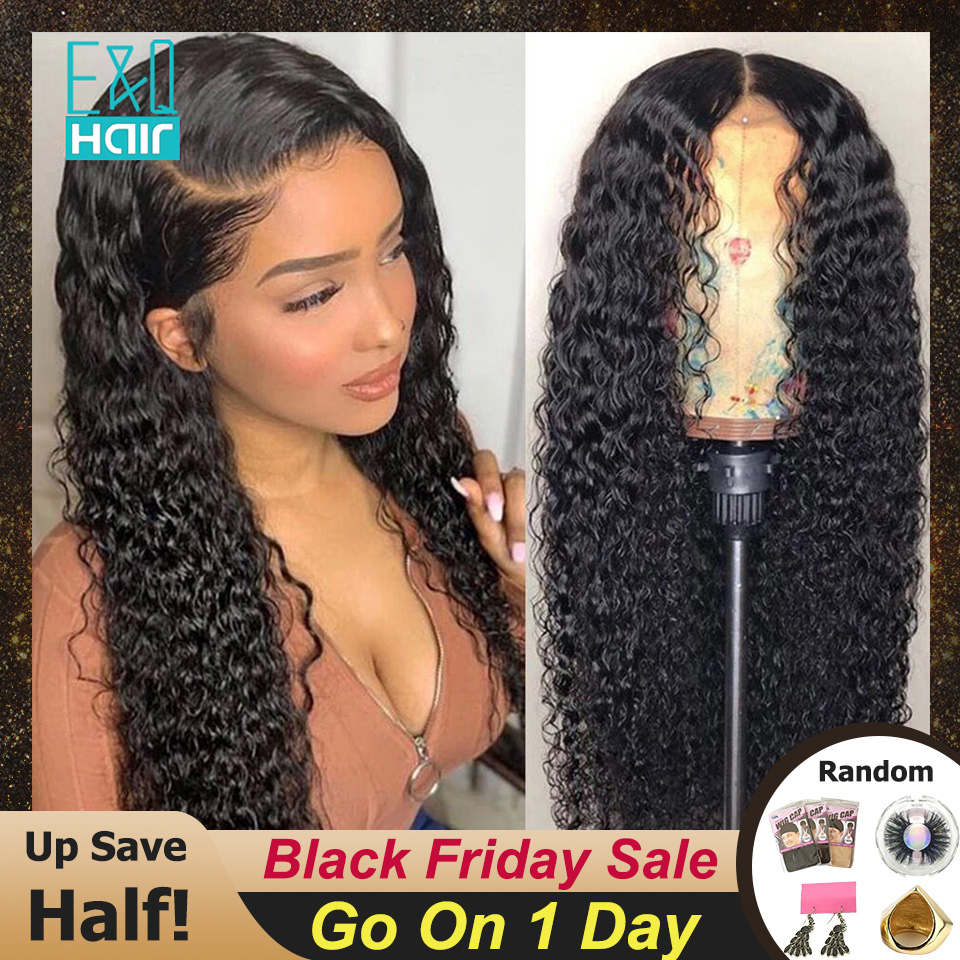 Curly 360 Lace Frontal Human Hair Wigs For Women Pre Plucked Hairline With Baby Hair Brazilian Remy Hair 13x6 Lace Front Wig