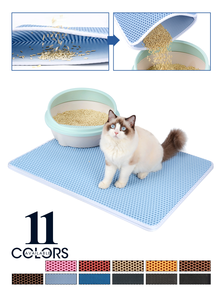 Litter-Mat Non-Slip-Pad Cats-Clean-Accessories Cat Toilet Sand Colorful Double-Layer