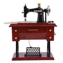 1Pc Mini Vintage Lockwork Sewing Machine Music Box