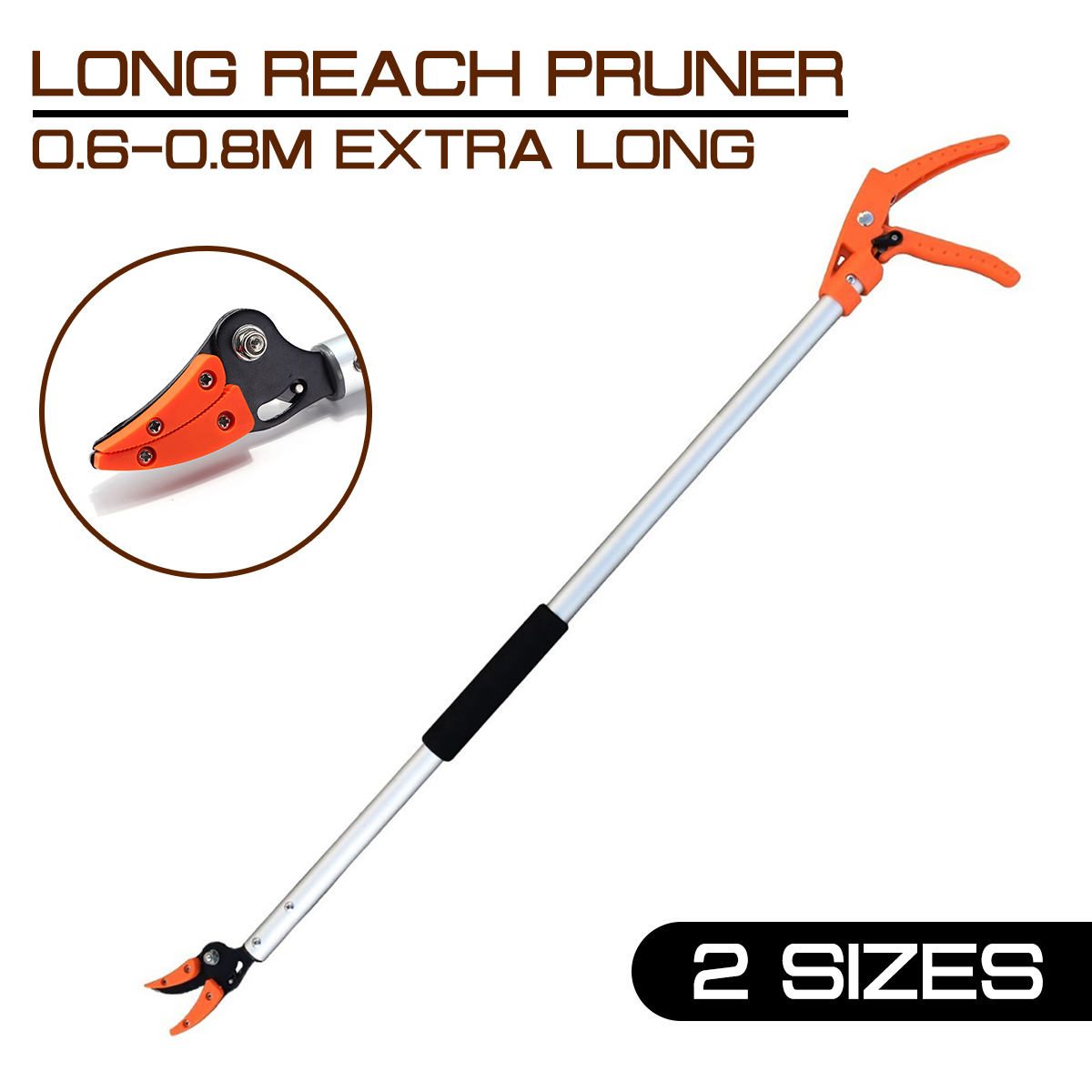 0.6-0.8M Extra Long Telescopic Pruning And Hold Bypass Pruner Fruit Picker Tree Cutter Max Cutting 1/2 Inch Garden Supplies