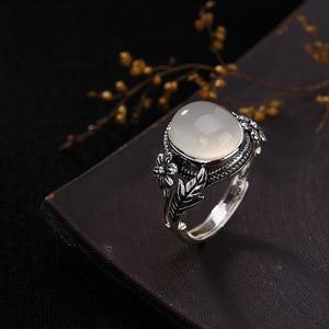 Image 4 - V. יה נשים טבעי אבן פתוח טבעת 925 סטרלינג תכשיטי כסף חצי יקר אבן & Marcasite אבן טבעות נקבה גבירותיי מתנות