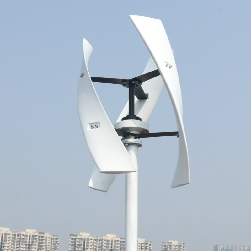 R&X 400W Wind Turbine Power Generator CE Vertical Axis X type Energy Windmill White 12v/24v Free Controller for Home Boat