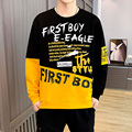 2021 Autumn Men Casual Sweatshirts Thin Harajuku Printed Men Long Sleeve Hoodies O-Neck Pullovers Homme Spring Wearing Clothes