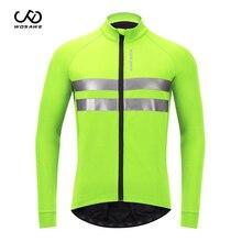Winter Cycling Jacket Bike Windbreaker WOSAWE Fleece Waterproof Ciclismo Warm Long-Sleeve