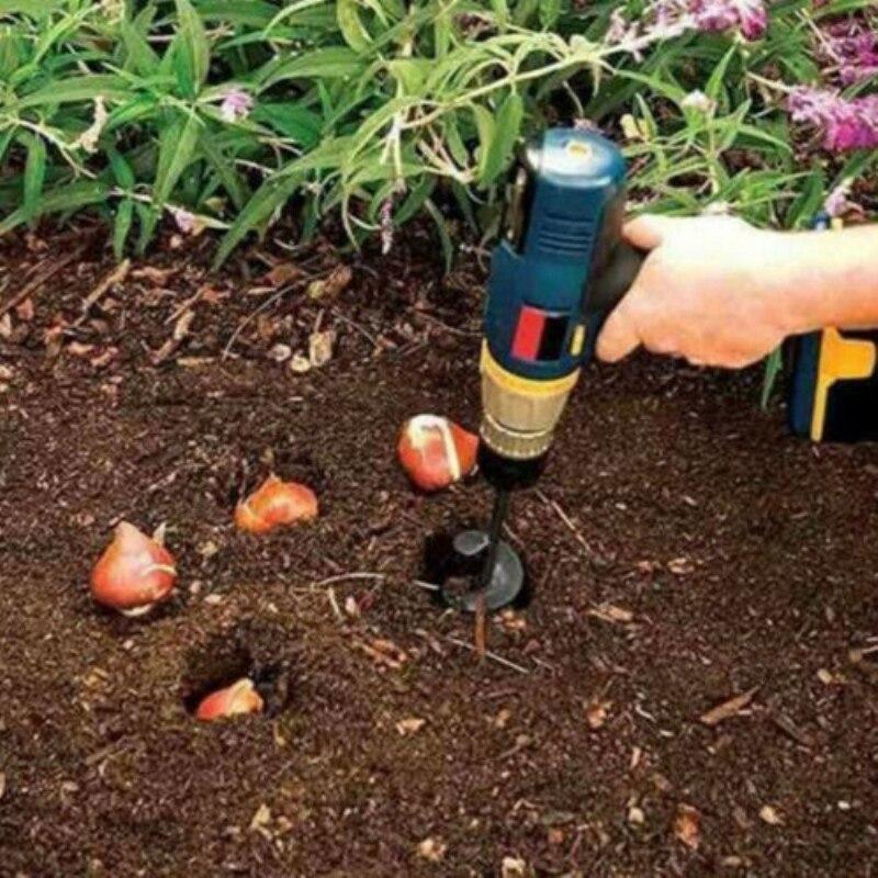 9Cm x 40Cm Garden Auger Spiral Drill Bit Flower Planter HEX Shaft Drill Auger Yard Gardening Planting Hole Digger Tool
