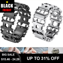 29 in 1 Multi Tool Bracelet Tread Bracelet Multifunction Tool Outdoor Bolt Driver Kits Travel Wearable Bike Multitool
