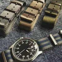 20 22 mm Blau/Grau Gestreiften Nato Strap für Armee Sport Uhr Nylon Armband Armband Auf Für Stunden Für james Bond Uhr