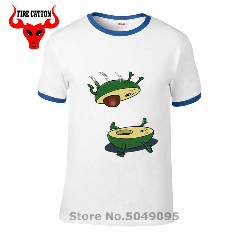Parodia awokado skok sex T shirt mężczyźni Funny sexy awokado T-shirt komiks kamasutra gag tshirt humoru żywności meme tee koszula camiseta