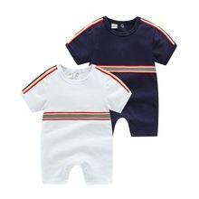 Летняя одежда для маленьких мальчиков тонкий хлопковый комбинезон