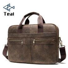 2020 New Fashion Briefcases Business Men Handbag Genuine Leather Men Messenger Bags Best Laptop Bags Top Handle