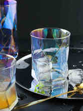 Colorful Waist Whisky Glass Cup Irregular Wine Glasses Shot Glass Brilliant Whiskey Glass Mug Drinking Cups Diamond Shape