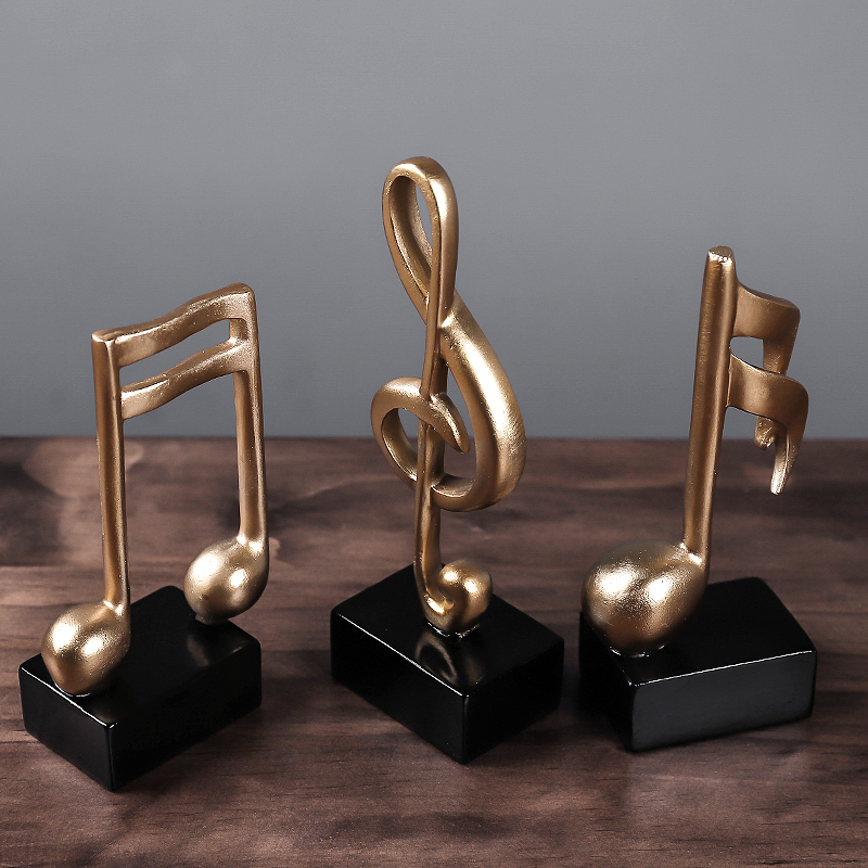 Home Decoration Music Note Crafts Wine Cabinet Decoration Art Resin Sculpture Just6F