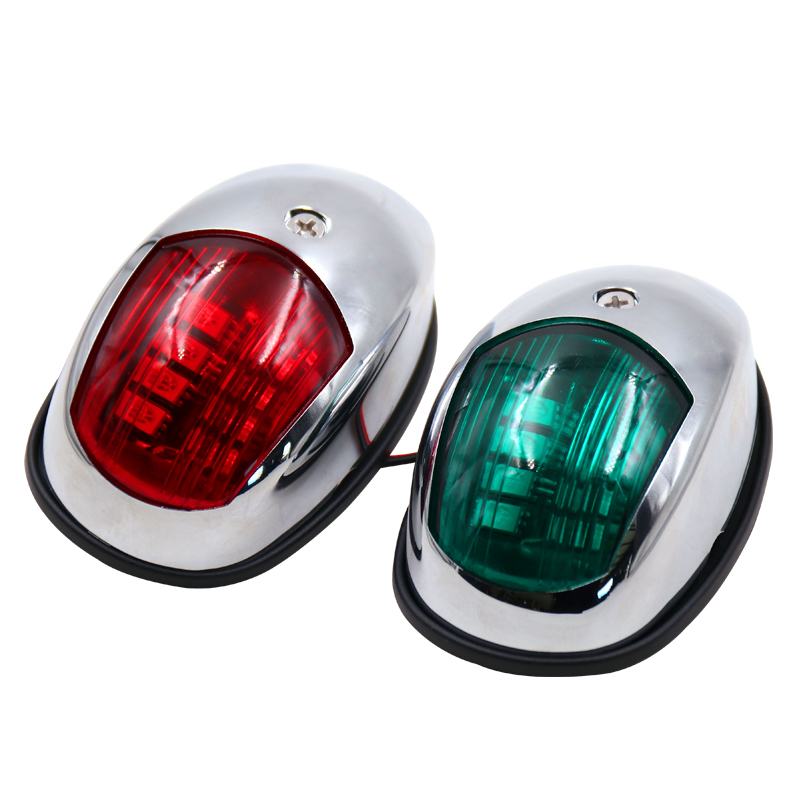 Signal Lamp Red & Green 12V 24V LED Navigation Light Signal Lamp Sidelight For Marine Boat Yacht Accessory Accessories