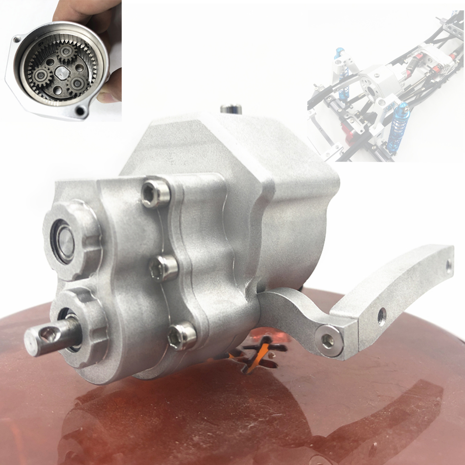 Front Alloy Transmission Gearbox  For 1/10 RC Car  Axial SCX10 & SCX10 II 90046 90027 90047 90060 Upgrade Part V8 Engine Radiato