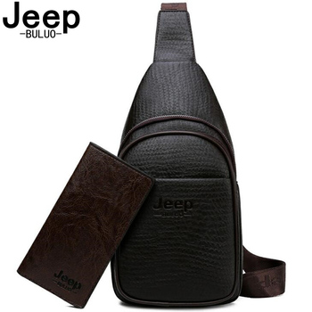 JEEPBULUO Men Crossbody Bags Fashion High Quality Leather Chest Bag For Young Man Casual Male Sling Bags Travel crossbody bag jeep buluo men crossbody bags fashion high quality leather chest bag for young man casual male sling bags travel shoulder bag