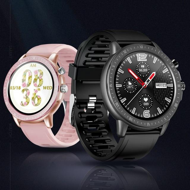 SAILWIND inteligentny zegarek sportowy mężczyźni kobiety pulsometr pomiar ciśnienia krwi bransoleta ze smartwatchem zegarek dla IOS Android