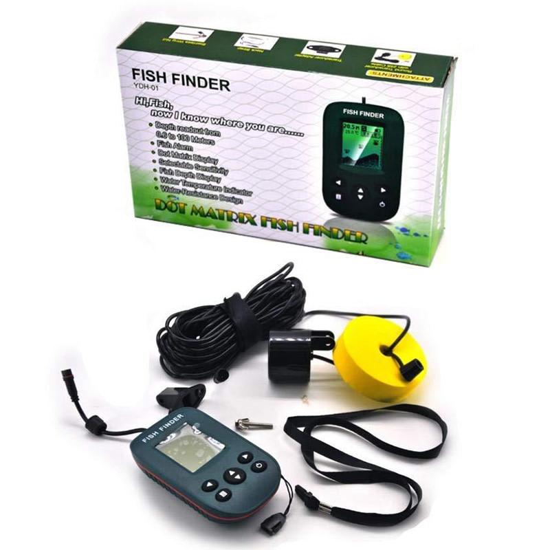 Tragbare Wireless Fisch Finder Echo-Echolot Angeln Echolot Sonar Echolot Palette Alarm Transducer Fish Finder