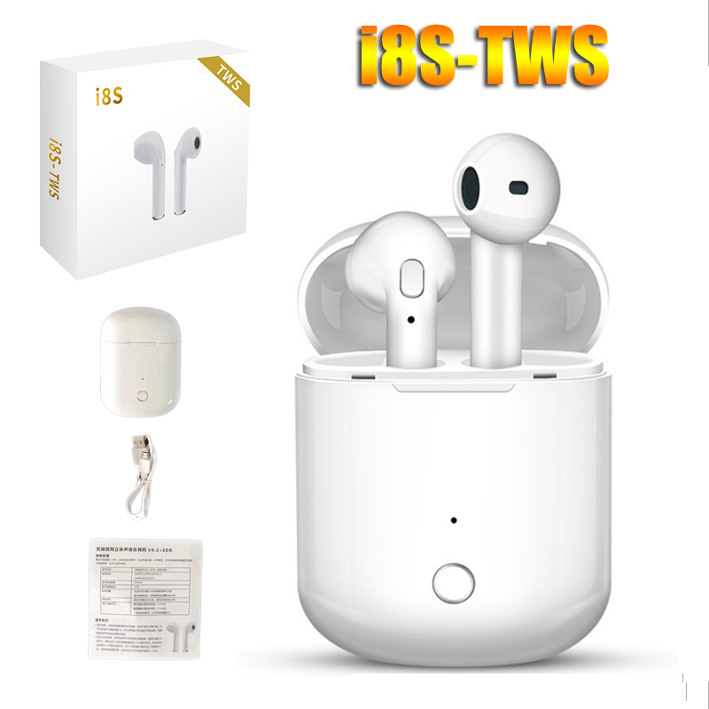 <font><b>i8S</b></font> <font><b>TWS</b></font> Wireless <font><b>Bluetooth</b></font> headphones portable mini Earbuds with charge box Outdoor sport headsets i7s upgrade image