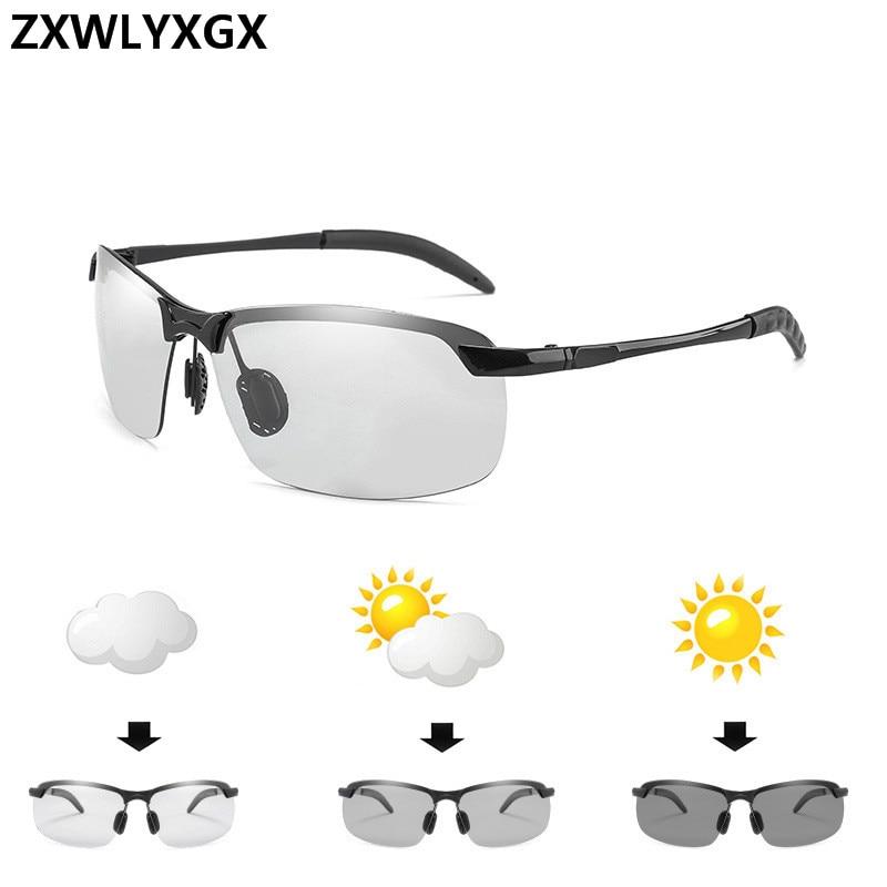 Change Color Photochromic Sunglasses Men Polarized Chameleon Glasses Male Sun Glasses Day Night Vision Driving Eyewear Gafas