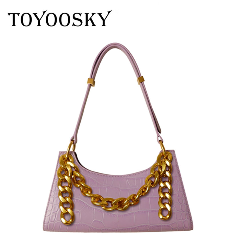 TOYOOSKY Vintage Alligator Fashion Female Shoulder Bags Chain Handbag Luxury Brand PU Leather Messenger Bag Bolso De Hombro