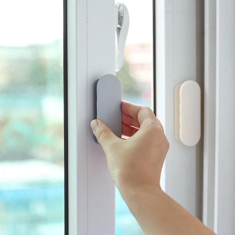 Self-adhesive Open Sliding Door Handles Interior Window Pull Knobs Door Handles Wall Door Holder Bath Towel Hanger Wall Hooks