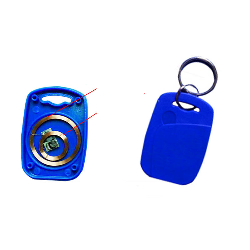 125KHZ T5577 RFID 13.56MHZ UID Changeable S50 1K NFC IC+ID Rewritable Composite Key Tags Keyfob Token Ring Keychain Badge Card