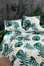 CHQEL Double Personality Printed Pique Pack Monstera Green