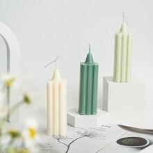 Stampo per candele in acrilico profumato a strisce quadrate per la fabbricazione di candele stampo per candele in plastica candela profumata fai-da-te decorazione domestica