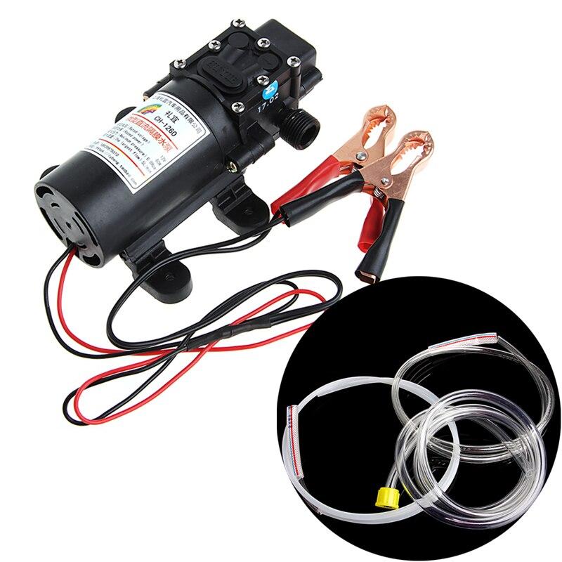 12V 전기 추출기 펌프 전송 오일 유체 디젤 사이펀 자동차 오토바이 60W