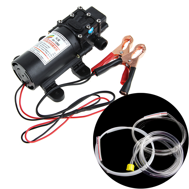 12V Elektrische Extractor Pomp Transfer Olie Vloeistof Diesel Sifon Auto Motor 60W