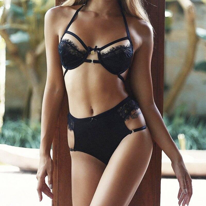 Women Sexy Underwear Seamless Lace Bralette Transparent Temptation Intimate Sexy Lingerie Underwear Panty   Bra     Set