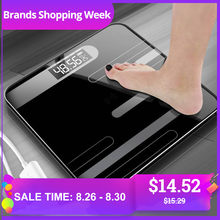 Mrosaa Bathroom Body Floor Scales Glass Smart Electronic Scales USB Charging LCD Display Body Weighing Digital Body Weight Scale(China)