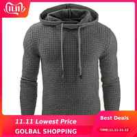 Toppick Sweater Men Fashion Solid Pullover Men Autumn Hooded Collar Quality Thick Warm Pull Homme Brand Sueter Hombre Plus Size