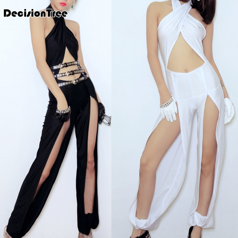 2019 Sexy Jazz Dance Dress Bodysuit Pants Costume Popular Dj Women Party Club Clothing Performance For Singers