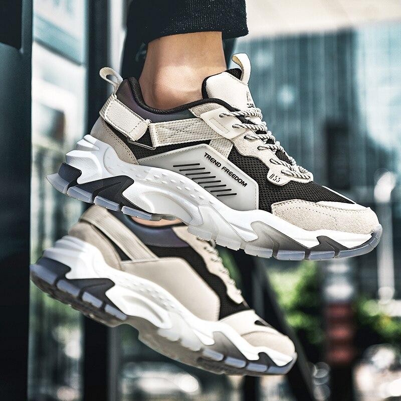 Купить кроссовки мужские дышащие повседневная обувь весна осень 2020