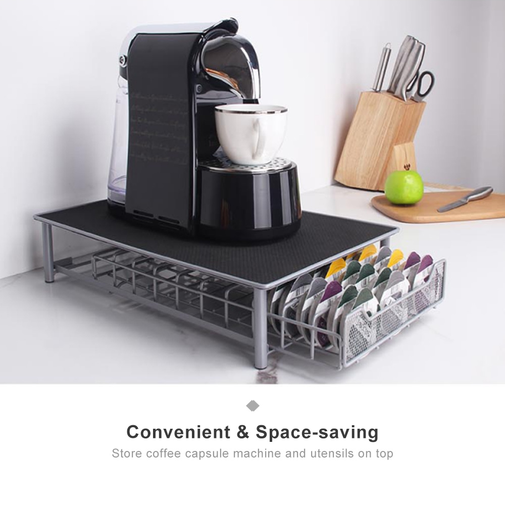 coffee pod storage drawer holder 60 k cup rack cups organizer coffee box drawer compatible with tassimo coffee pod