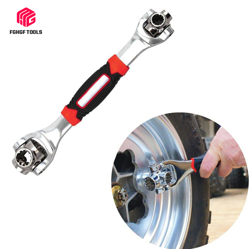 FGHGF Universal Car Tools Socket Wrench 48 In 1 Tools Wrench Spline Bolts Ratchet Repair Tools Bicycle Socket Torque Wrenchs